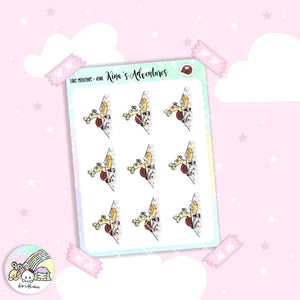 Stickers Sheet- Kina -Take medicines