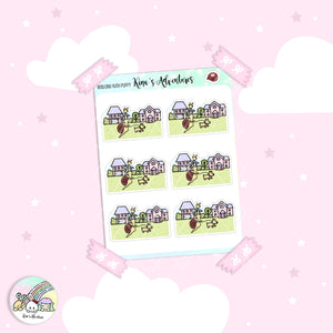 Stickers Sheet- Kina- Walking with puppy