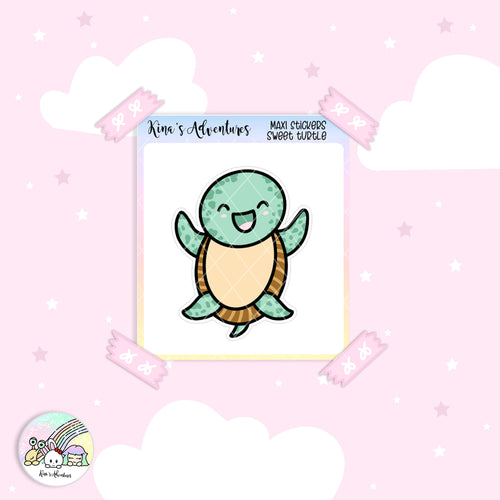 Stickers Sheet- MAXI sticker - Sweet turtle