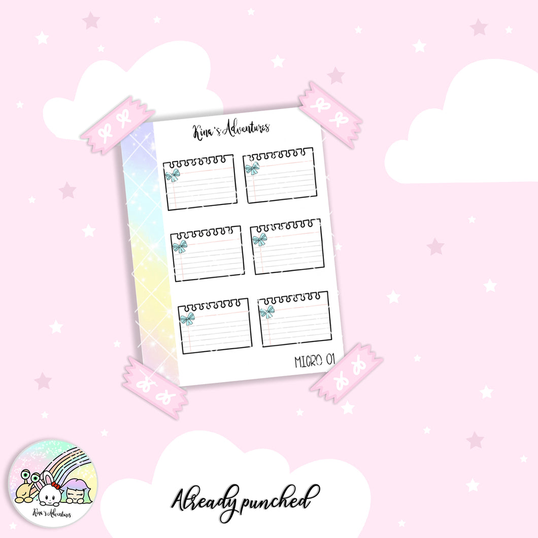 Stickers Sheet - Micro happy planner - 01