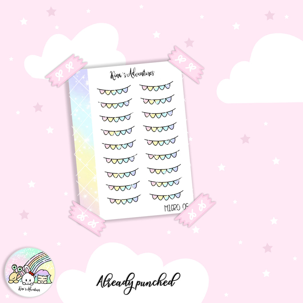 Stickers Sheet - Micro happy planner - 05