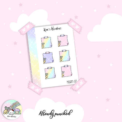 Stickers Sheet - Micro happy planner - 07