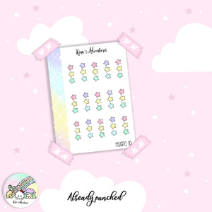 Stickers Sheet- Micro Happy planner - 10