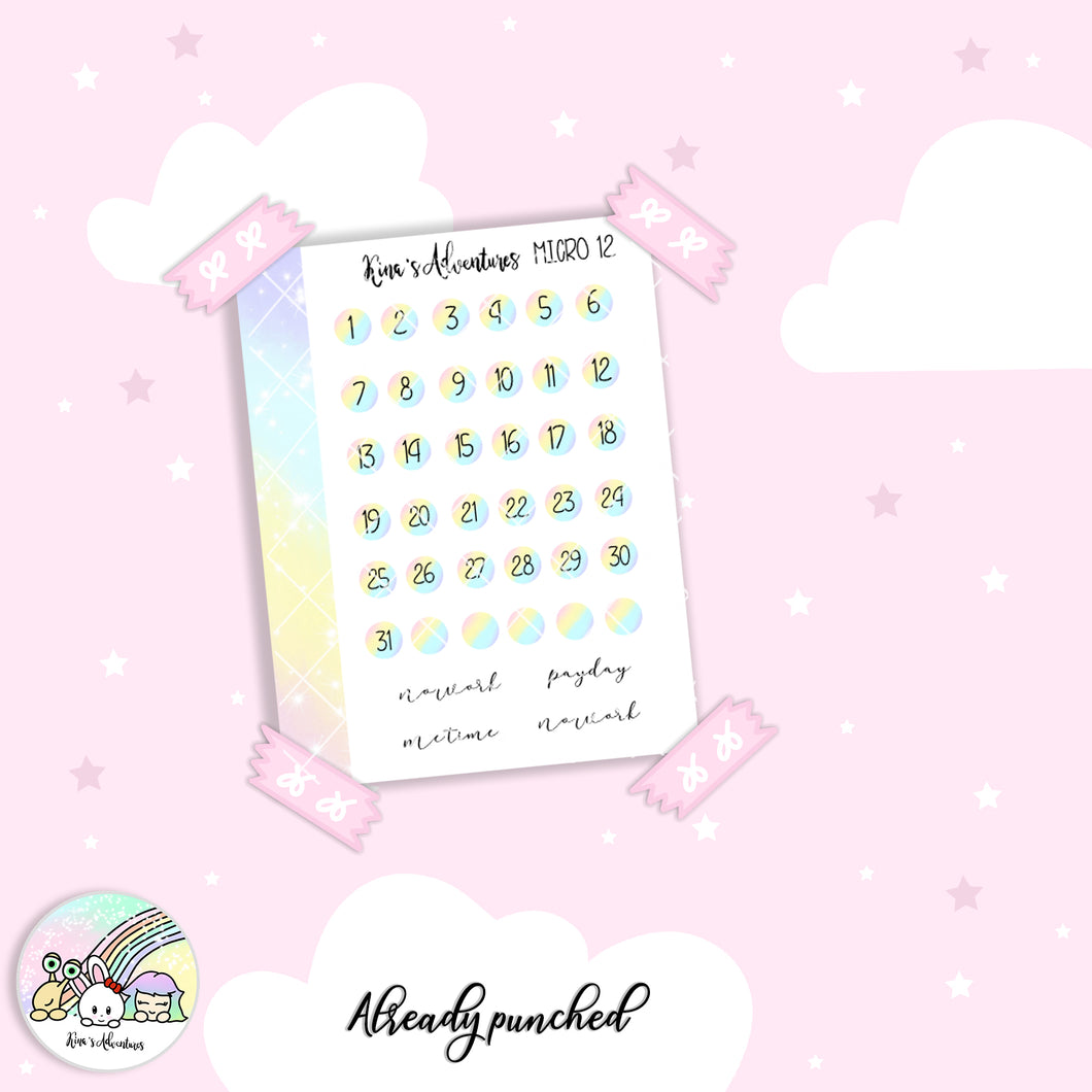 Stickers Sheet- Micro Happy Planner - 12