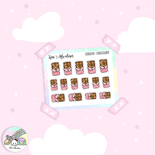 Doodles - Mini stickers sheet - Chocolate