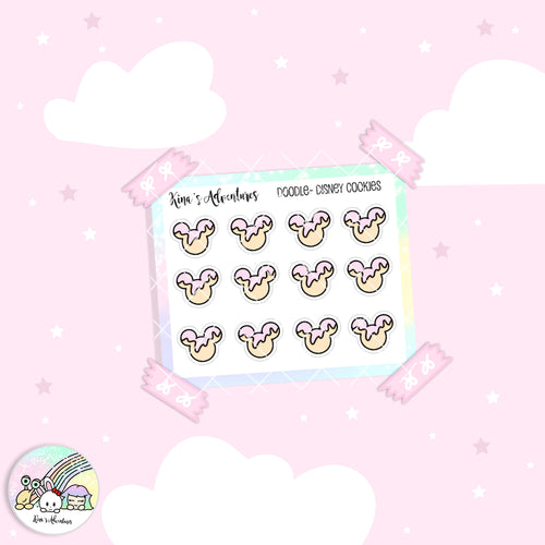 Doodles - Mini stickers sheet - Disney Cookies