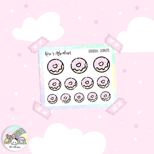 Doodles - Mini stickers sheet - Donuts