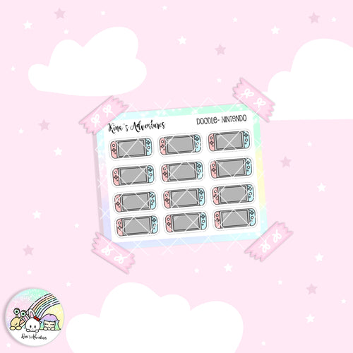 Doodles- Mini stickers sheet - Nintendo