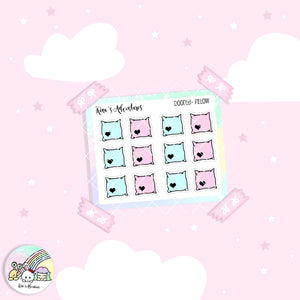 Doodles- Mini Stickers sheet - Pillows - FOIL
