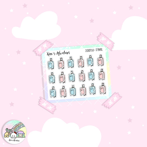Doodles- Mini stickers sheet - Travel