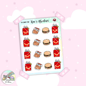 Stickers Sheet - Minu' - Mc Donald's