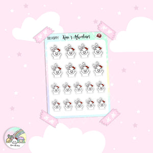 Stickers Sheet- Minu'- Be happy