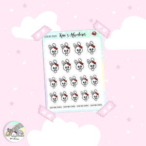 Stickers Sheet- Minu'- Cute not stupid