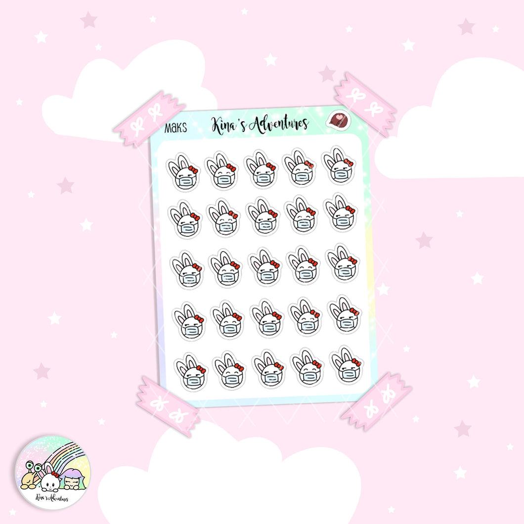 Stickers Sheet- Minu'- Masks