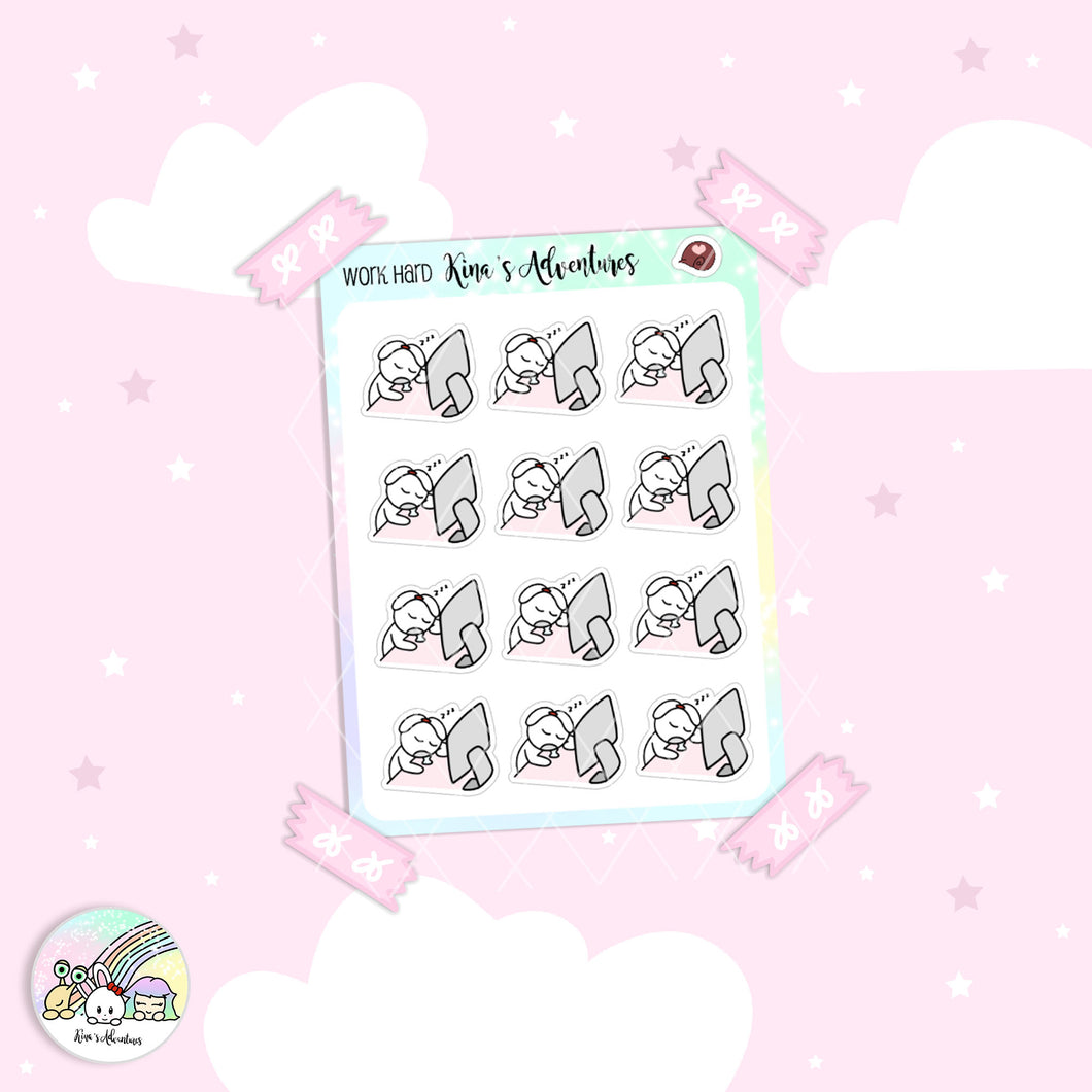 Stickers Sheet - Minu' - Hard Work