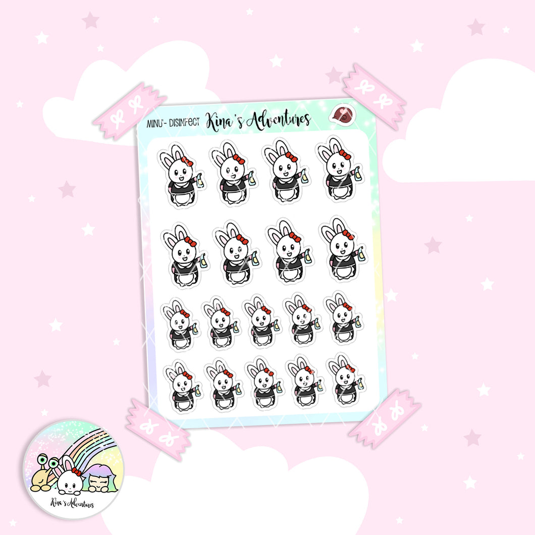 Stickers Sheet - Minu' - Disinfect