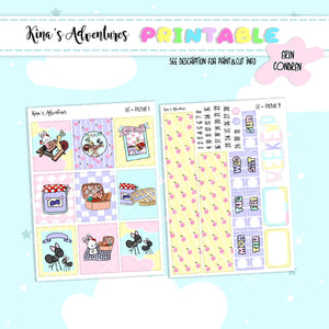 Printable- Standard Vertical Kit - Pic Nic