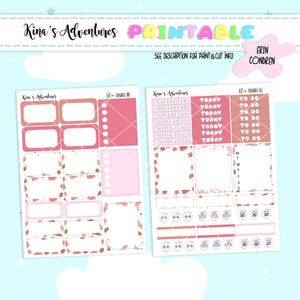 Printable - Standard vertical kit - Swan
