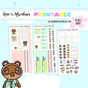 Printable - Hobonichi Weeks- Animal Crossing II