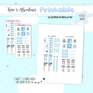 Printable - Hobo Weeks - Arctic