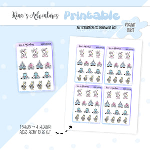 Printable- Regular stickers sheet- Magic Kingdom