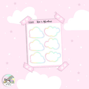 Stickers Sheet- Doodle-Clouds