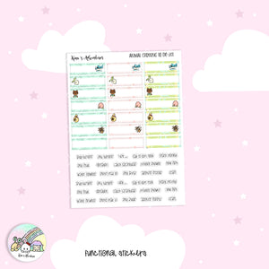 Stickers sheet - Animal Crossing II - To do list