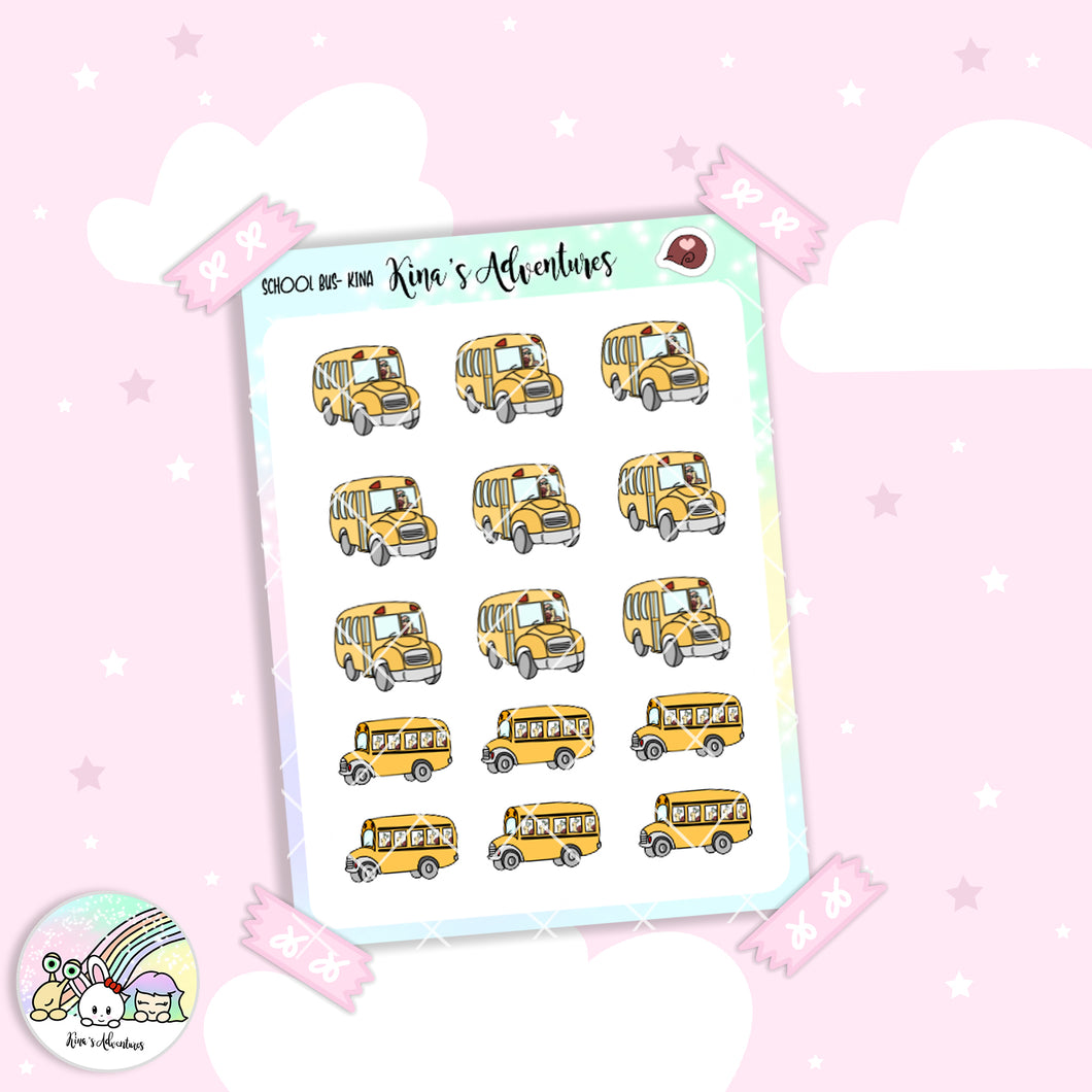Stickers Sheet - Back to school - School bus