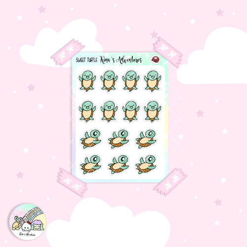 Stickers Sheet- Sweet Turtle