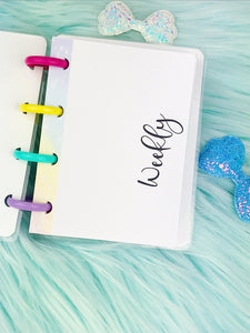 Micro Happy Planner- Refill (physical product)- Weekly column