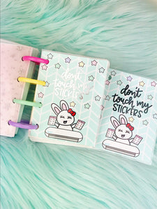 "Micro Happy Planner Dashboard ""Don't touch my stickers"""