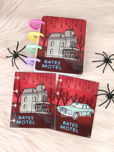 Halloween Collection - Micro Happy planner- Bates Motel (cover/dashboard)