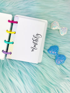 Micro Happy Planner- Refill (physical product)- Monthly