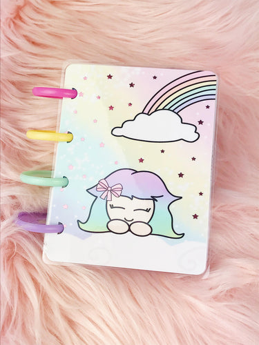 Micro Happy planner Covers (front & back) - Rainbow +FOIL