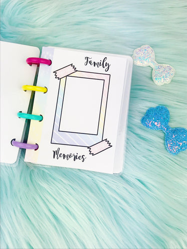 Micro Happy Planner- Refill (physical product)- Polaroid