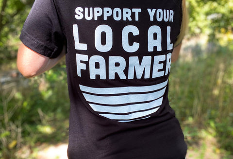 Dahlia May Logo T-Shirt - Support Your Local Farmer
