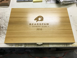 Custom Logo Engraving on Box