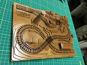 Add a Wooden Lighthouse to A Railroad Cribbage Board