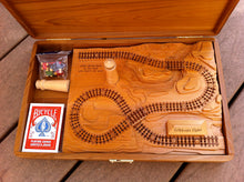 Load image into Gallery viewer, Add a Wooden Lighthouse to A Railroad Cribbage Board