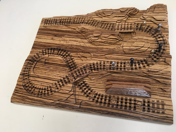 Zebrawood 'From the Mountains to the Coast' Railroad Cribscape