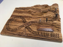 Load image into Gallery viewer, Zebrawood 'From the Mountains to the Coast' Railroad Cribscape