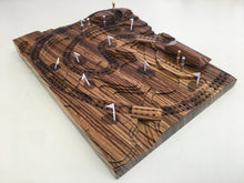 Load image into Gallery viewer, Zebrawood 'The Back Nine' Golf Cribscape
