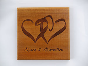 Custom Logo Engraving on Coasters (Set of 4)