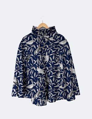 Rain Cape // Blue Birds