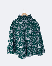 Load image into Gallery viewer, Rain Cape // Green Birds