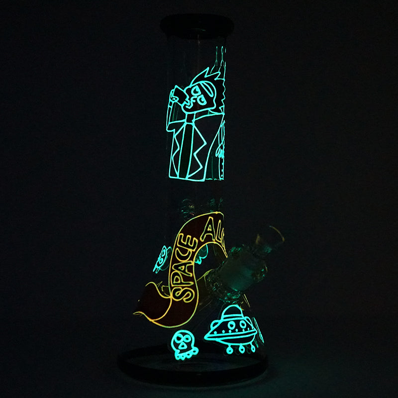 Rick and Futurama Space Alcholics Water Pipe