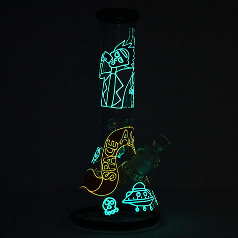 Image of Rick and Futurama Space Alcholics Water Pipe