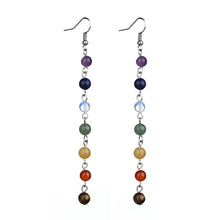 Logn 7 Chakra Beads Yoga Earrings