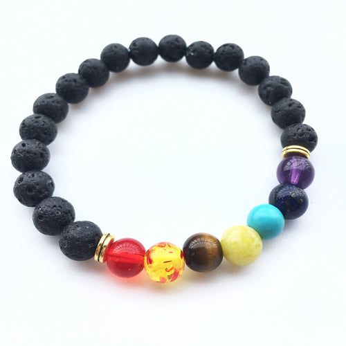 Trendy Black Lava Rock Bracelet