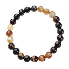 Tiger Eyes Agates  Beaded Yoga Bracelets. Choose your color!